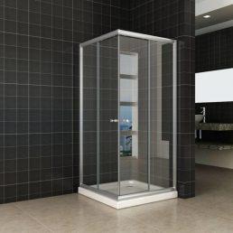 Wiesbaden Eco hoekinstap douchecabine 80x80x190 cm - 5mm helder glas