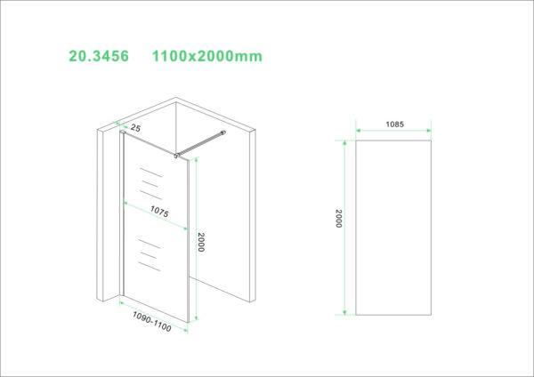 Wiesbaden Slim glasplaat helder 110x200 cm - 8mm NANO glas