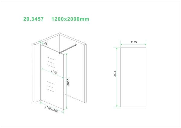 Wiesbaden Slim glasplaat helder 120x200 cm - 8mm NANO glas
