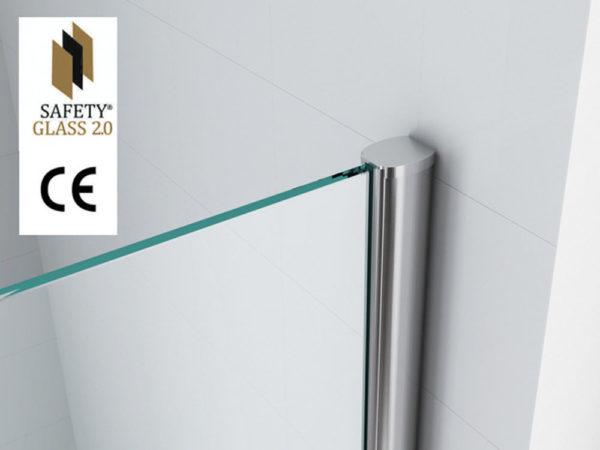 Wiesbaden Safety Glass inloopdouche 80x200 cm - 10mm NANO Safety glass