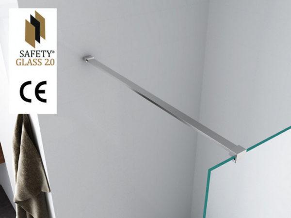 Wiesbaden Safety Glass inloopdouche 120x200 cm - 10mm NANO Safety glass