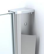Wiesbaden inloopdouche 60x200 cm - 10mm NANO glas