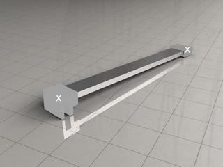Wiesbaden losse vierkante stabilisatiestang 100cm