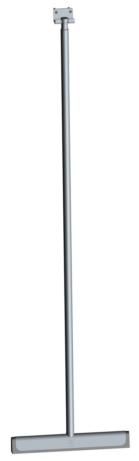 Wiesbaden luxe geborsteld staal badkamer-vloerwisser+ophanging