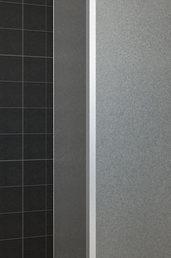 Wiesbaden zijwand+hoekprof. 350x2000 10mm NANO voll.matglas