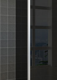 Wiesbaden zijwand+hoekprof. 350x2000 10mm NANO rookglas