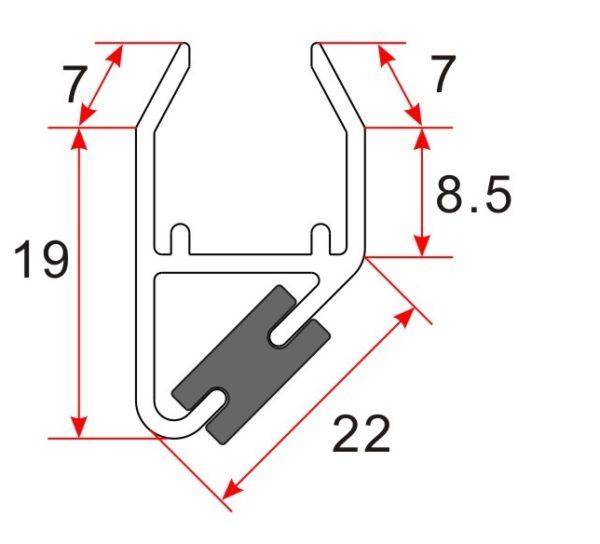 Wiesbaden Set magneetstrip modulair 8-10 mm