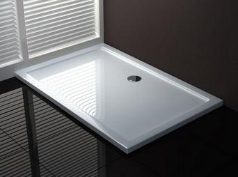 Mould SMC douchebak 120 x 80 x 4 cm rechthoek wit