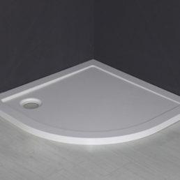 Mould SMC douchebak 90 x 90 x 4 cm 1/4 rond wit
