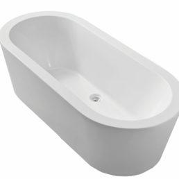 Bianco vrijstaand ligbad acryl 177,5 x 79,5 x 58,5 cm wit