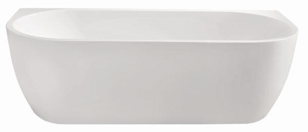 Wiesbaden Wall half-vrijstaand acryl ligbad 180x80 cm wit