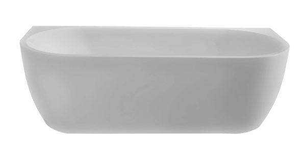 Wall half-vrijstaand ligbad acryl 180 x 80 x 58 cm mat wit