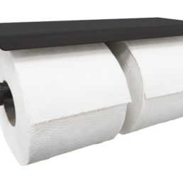 Brush dubbele toiletrolhouder zwart