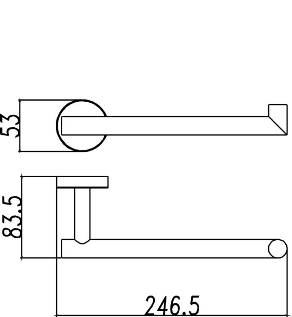 Wiesbaden 304-handdoekbeugel compact RVS