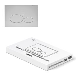 Wiesbaden drukplaat tbv inbouwreservoir mat-wit