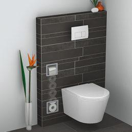 Wiesbaden inbouw-toiletrolhouder + reserve-rollen RVS