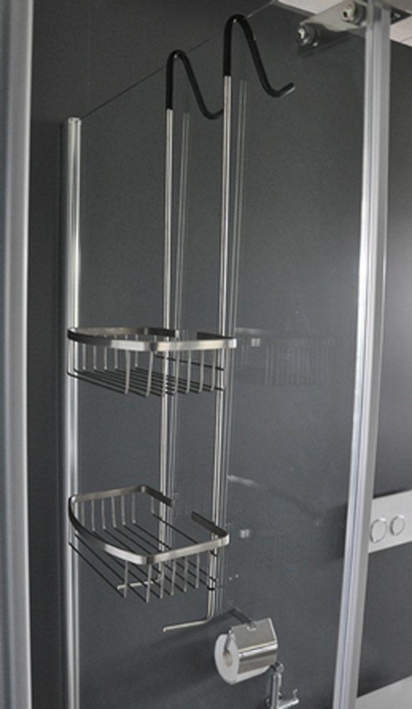 Wiesbaden Domo chroom ophangrek tbv glazen wand 80cm