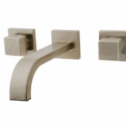 Wiesbaden Rombo 2-knops wastafel-afbouwdeel geborsteld staal