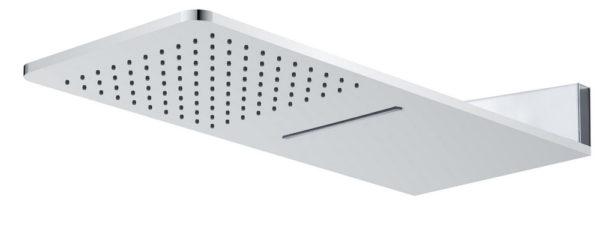 Wiesbaden luxe vierkante wand-hoofddouche+waterval 600x25 chr