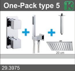 Wiesbaden one-pack inbouwthermostaatset type 5 CHR (20cm)