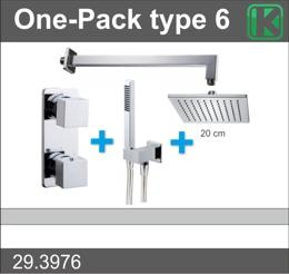 Wiesbaden one-pack inbouwthermostaatset type 6 CHR (20cm)