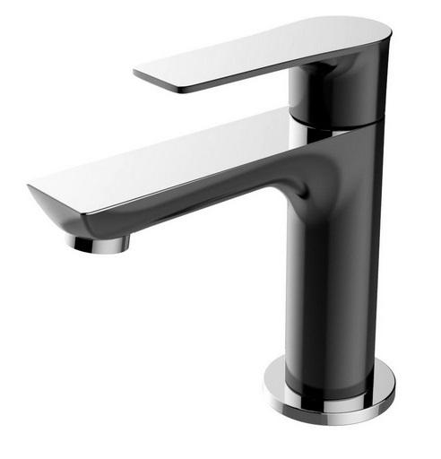 Casma toiletkraan zwart/chroom