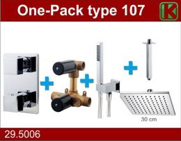 Wiesbaden one-pack inbouwthermostaatset type 107 CHR (30cm)