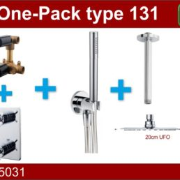 Wiesbaden one-pack inbouwthermost.set type 131 CHR (20cm ufo)