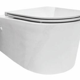 Flow Rimless wandcloset 55 cm met Flatline Soft-Close zitting wit
