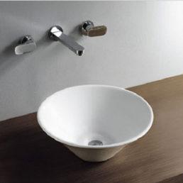 Wiesbaden Circle opzetwastafel 420x420x150mm wit
