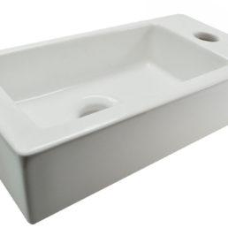 Rhea XS fontein 36 x 18 cm wit rechts