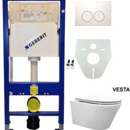 Wiesbaden Geberit UP 100 Vesta wc+ Flatline zitt.+ Delta 21 wit