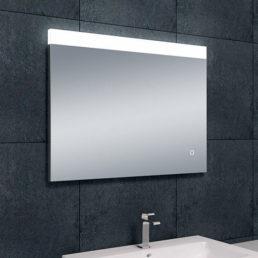 Single spiegel met LED verlichting & verwarming 80 x 60 cm