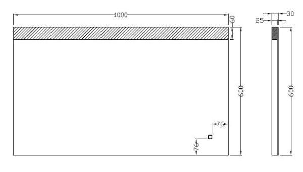 Wiesbaden Single dimbare LED condensvrije spiegel 100x60cm