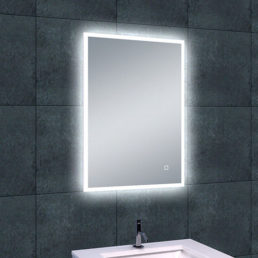 Quatro spiegel met LED verlichting & verwarming 50 x 70 cm