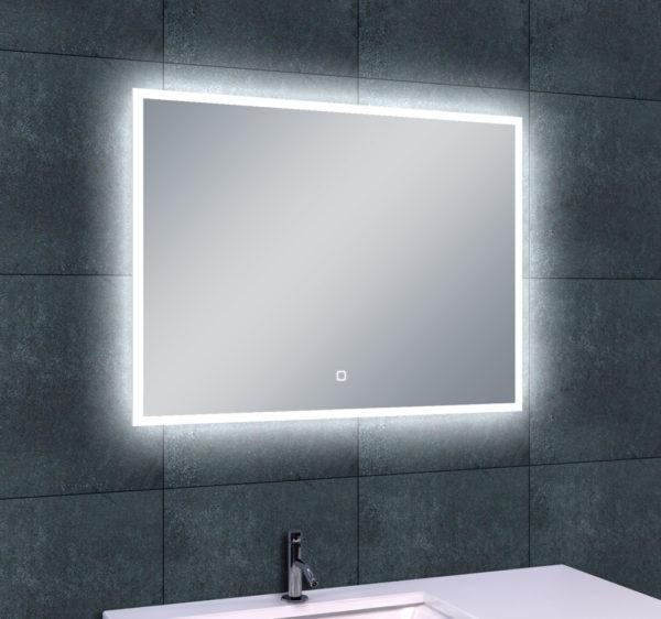 Wiesbaden Quatro-Led dimbare condensvrije spiegel 80x60cm