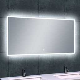 Quatro spiegel met LED verlichting & verwarming 120 x 60 cm