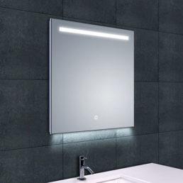 Wiesbaden Ambi One dimbare Led condensvrije spiegel 60x60cm