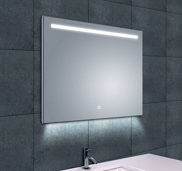Wiesbaden Ambi One dimbare Led condensvrije spiegel 80x60cm