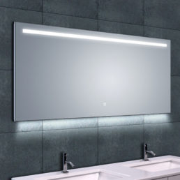 Wiesbaden Ambi One dimbare Led condensvrije spiegel 140x60cm