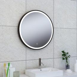 Wiesbaden Maro spiegel 60cm rond + Led matzwart