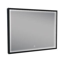 Wiesbaden Rechthoekige condensvrije LED-spiegel 80x60cm matzwart
