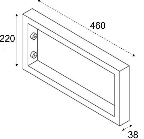 Wiesbaden Chroom vierkante supportbeugel 46x22