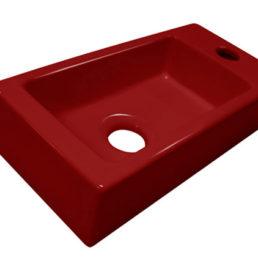 Mini-Block fontein rood Rechts 36 x 18 cm