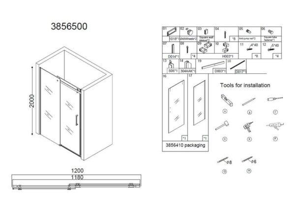Best Design Erico nisdeur schuif 120x200 cm