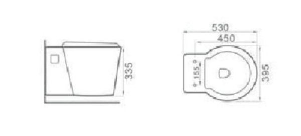 Best Design Hanes wandcloset 53 cm incl.zitting