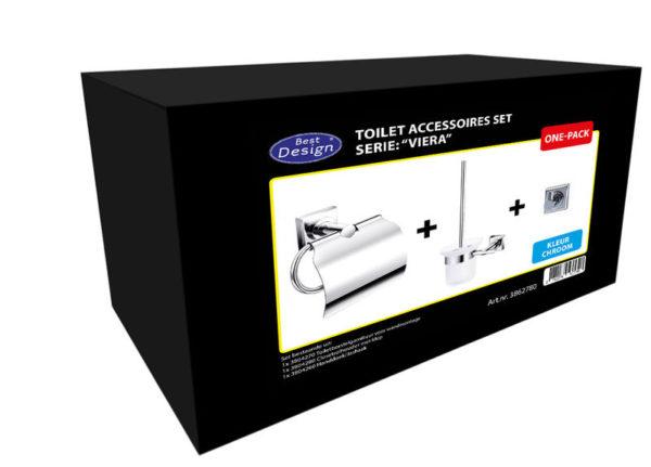 Best Design One-Pack toilet accessoires set Viera