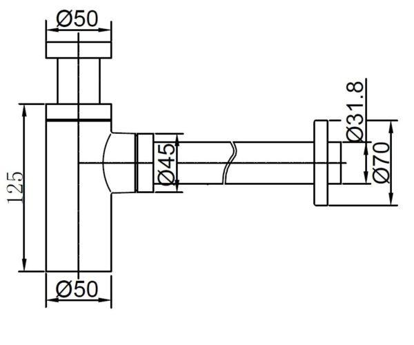 Best Design Design Sifon 5/4x32 mm