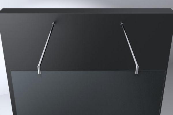 Best Design Erico-Free-Standing vrijstaande wand 120 cm - 8mm NANO glas