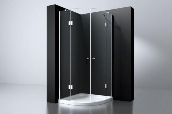 Best Design Erico 1/4 rond cabine met 2 deuren 100 x 100 cm 8 mm Nano